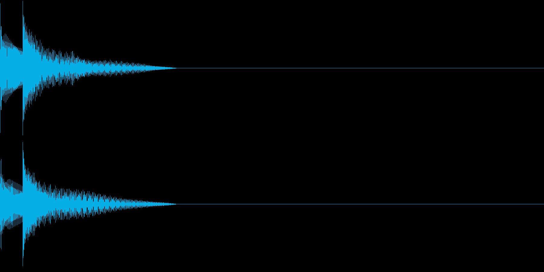 Cursor セレクト・カーソルの音9の再生済みの波形