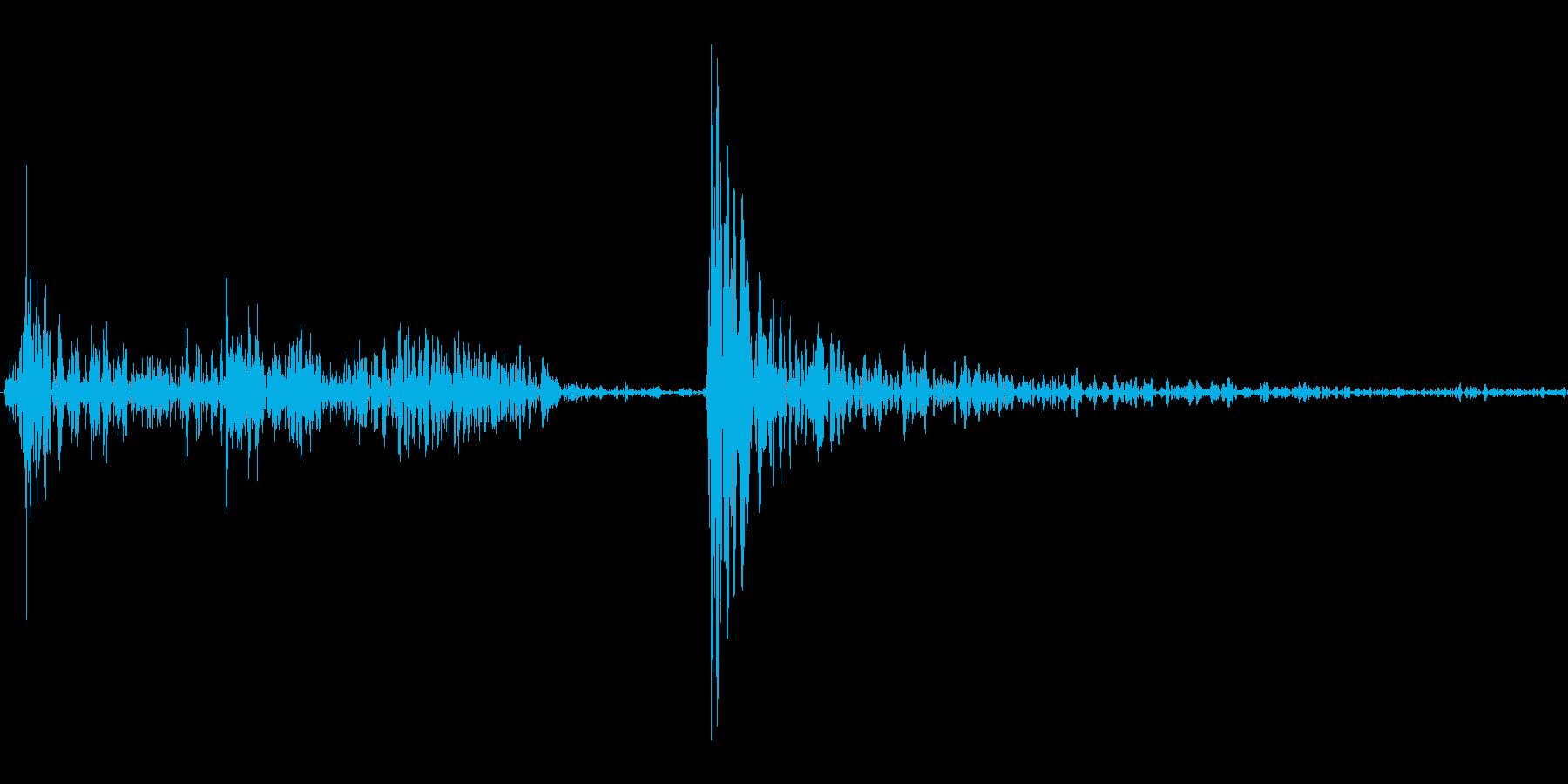 シュタッ(着地、キャンセル等の再生済みの波形