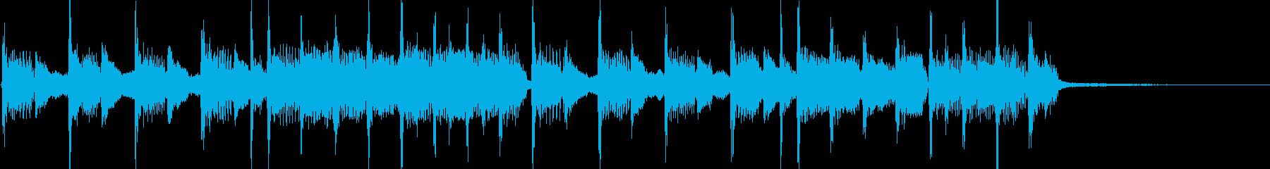 小さないたずらをイメージさせるジングルの再生済みの波形