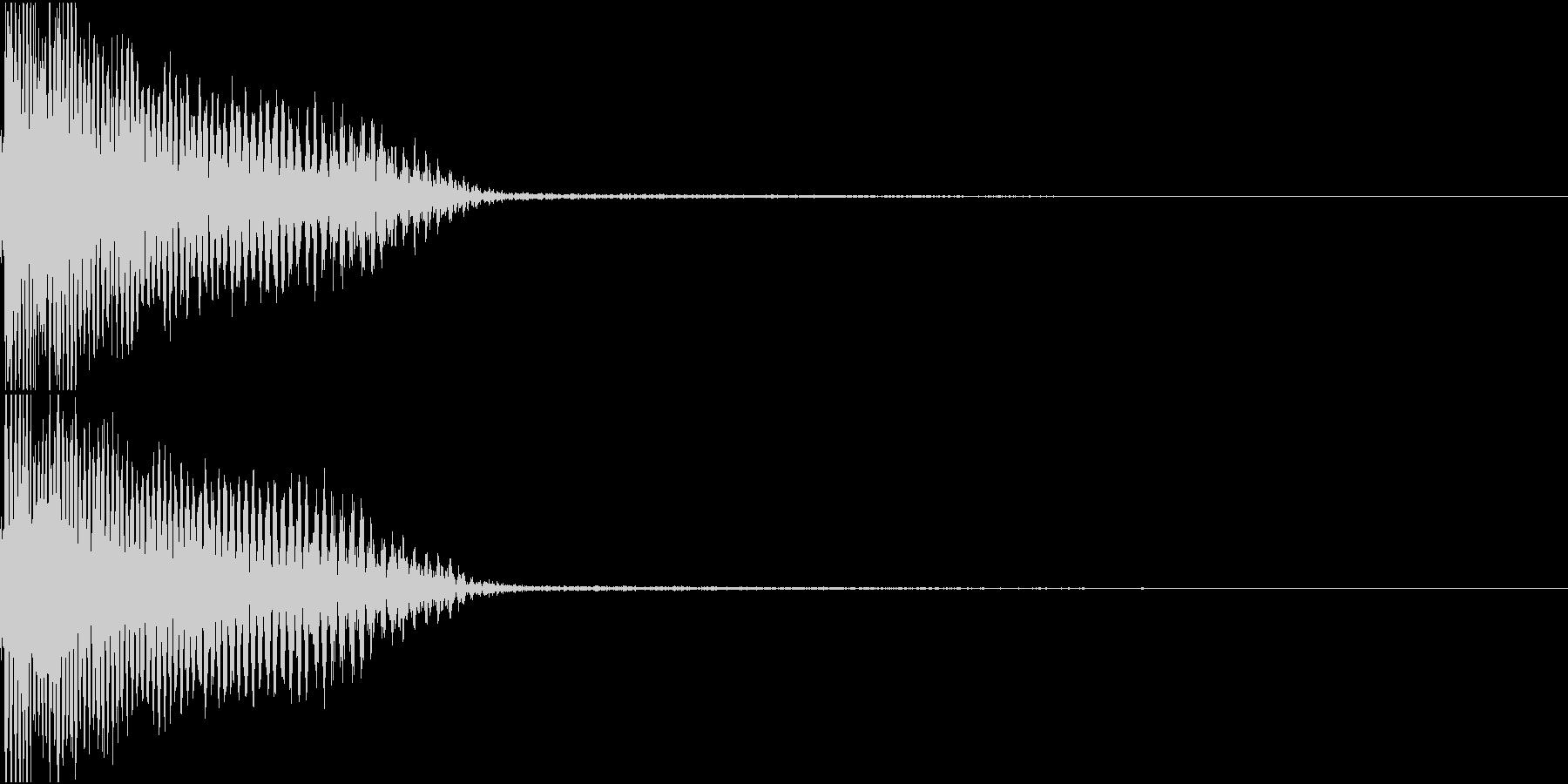 InvaderBuzz 発砲音 25の未再生の波形