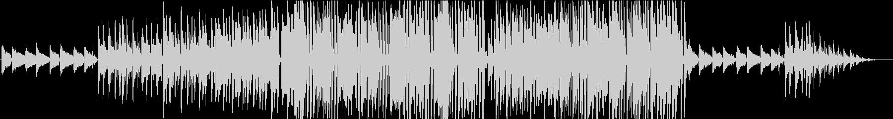 疾走感のあるジャズピアノの未再生の波形