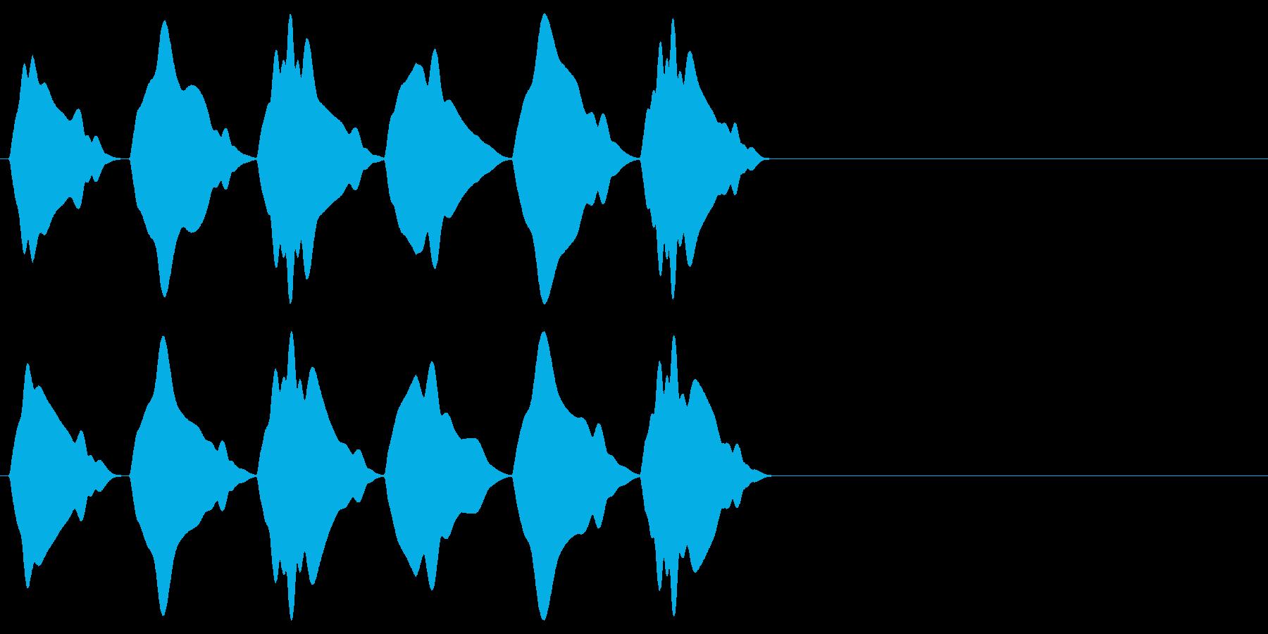 シンプルな効果音 ヒヨヒヨヒヨの再生済みの波形