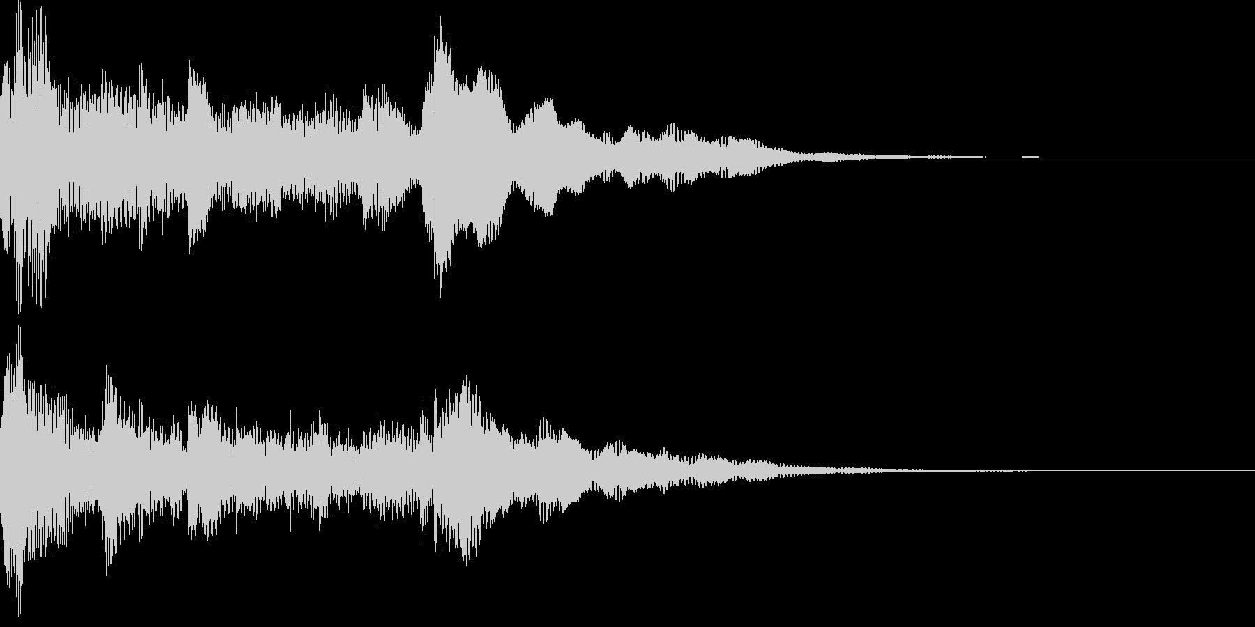 アコギアルペジオによる優しいオープニングの未再生の波形
