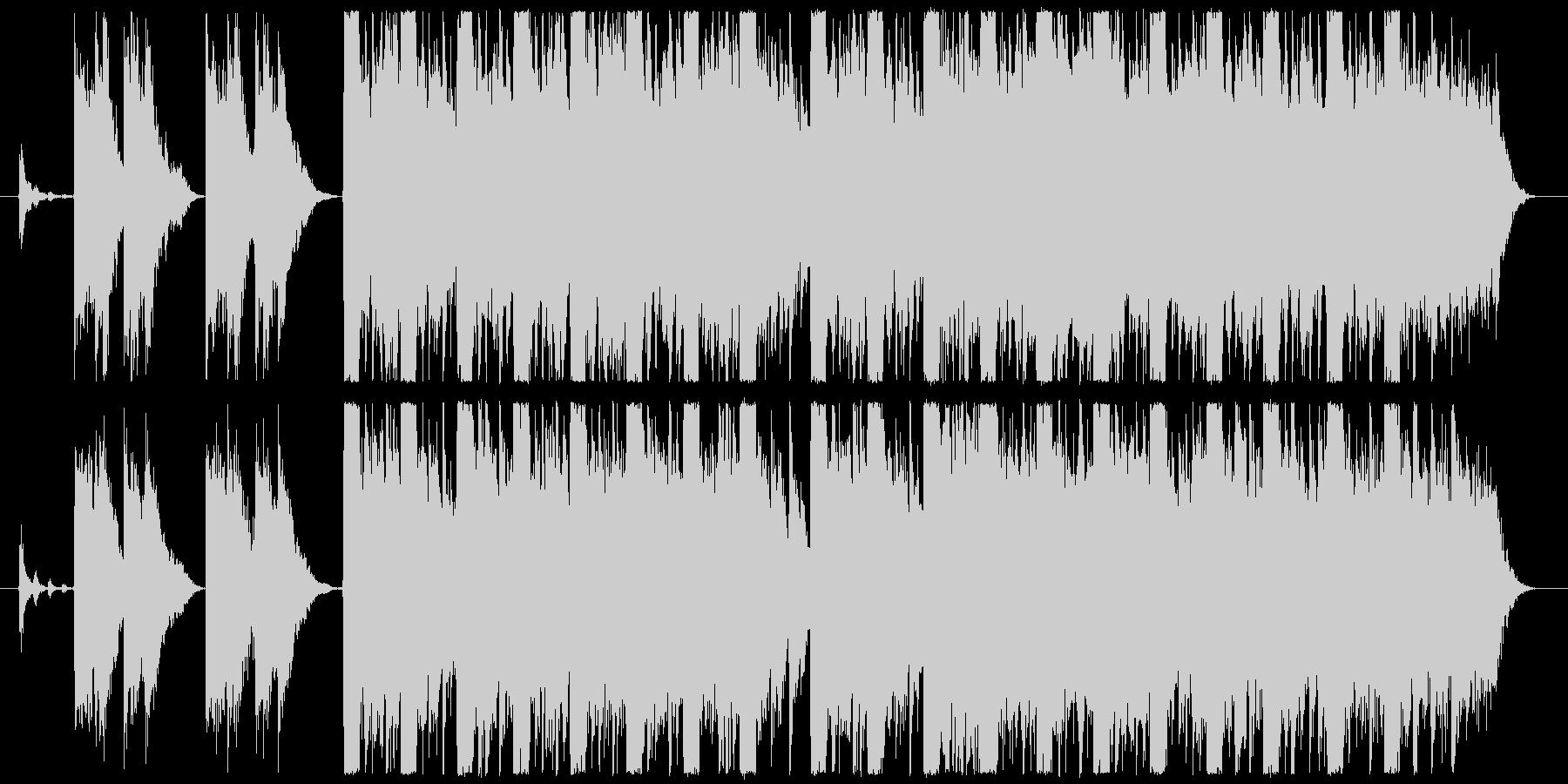 儚く悲しいピアノエレクトロ 遺作アレンジの未再生の波形