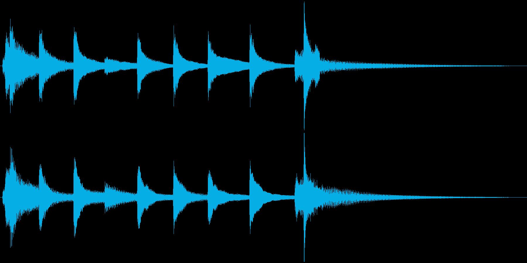 琴の和風ジングル5の再生済みの波形