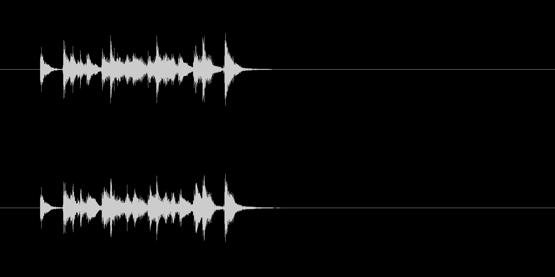 ポップ コミカル サンバホイッスルの未再生の波形