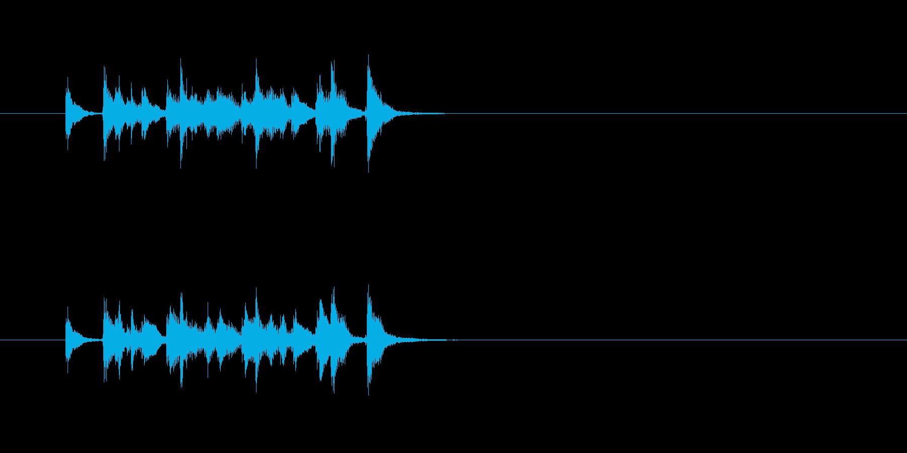 ポップ コミカル サンバホイッスルの再生済みの波形