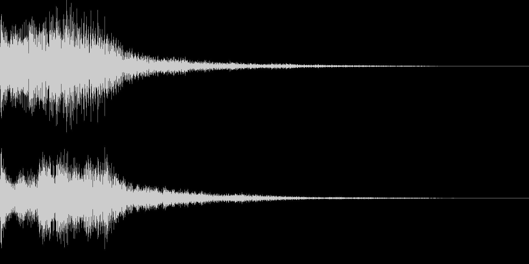 ティロリというキラッとした決定音ですの未再生の波形