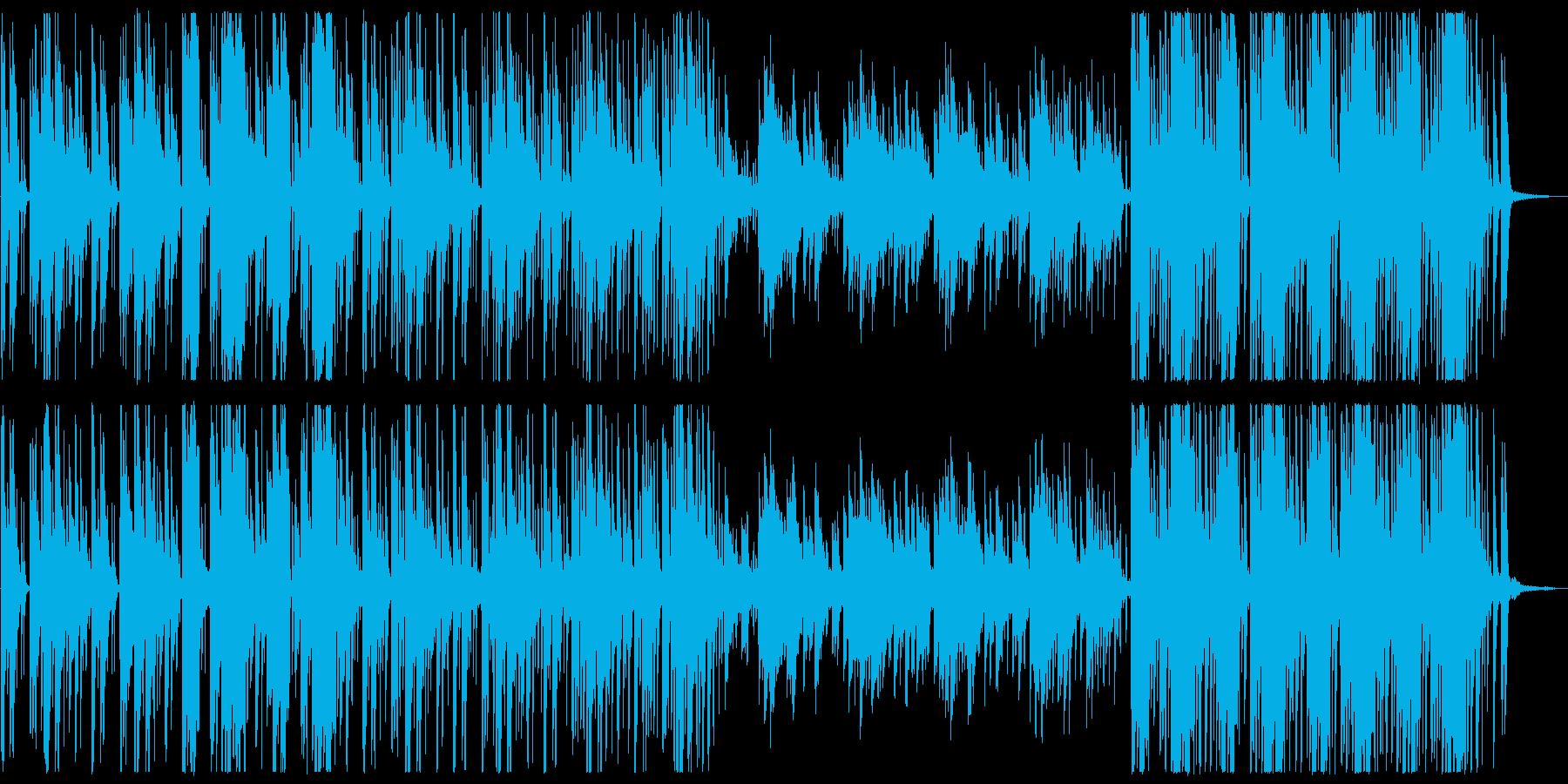神秘的なオリエンタルBGM(自然音あり)の再生済みの波形