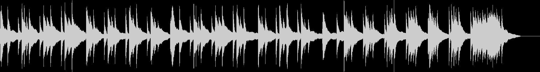 静かな雰囲気のピアノ曲の未再生の波形