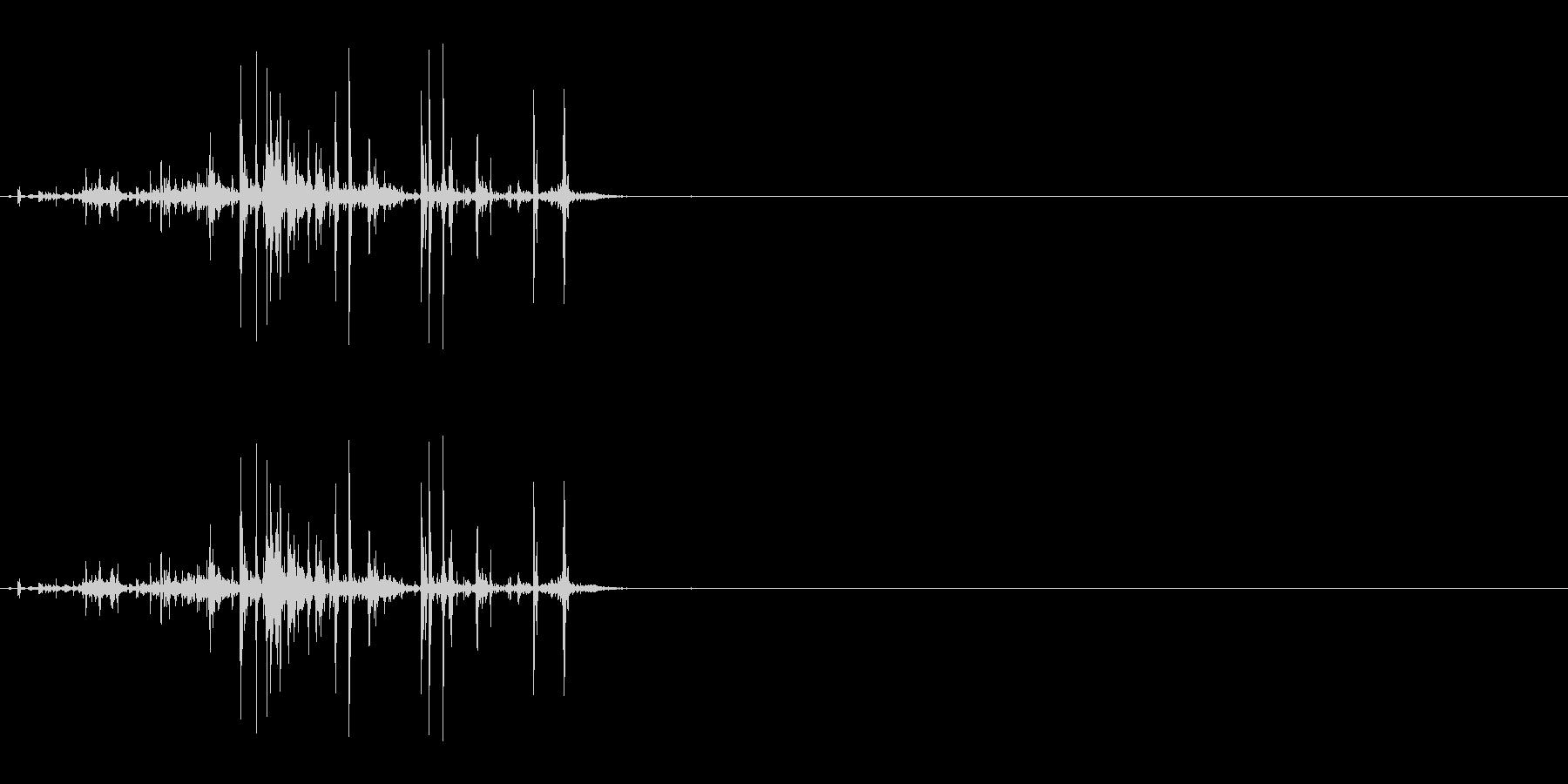 折れる音04の未再生の波形