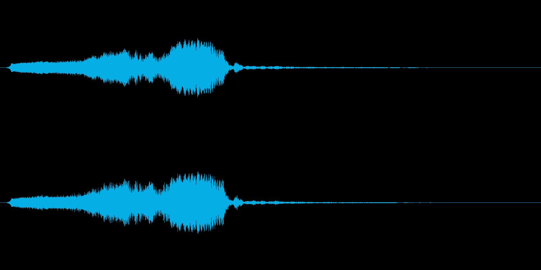 スライドホイッスル-4の再生済みの波形