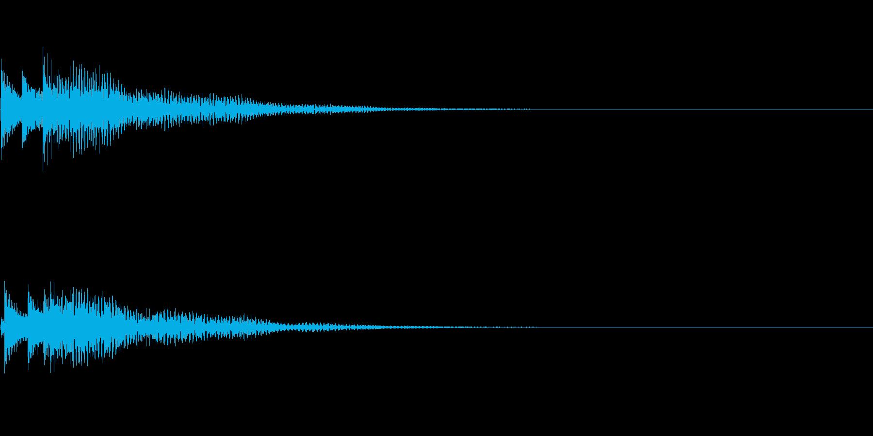 システム音12_シンセDPの再生済みの波形