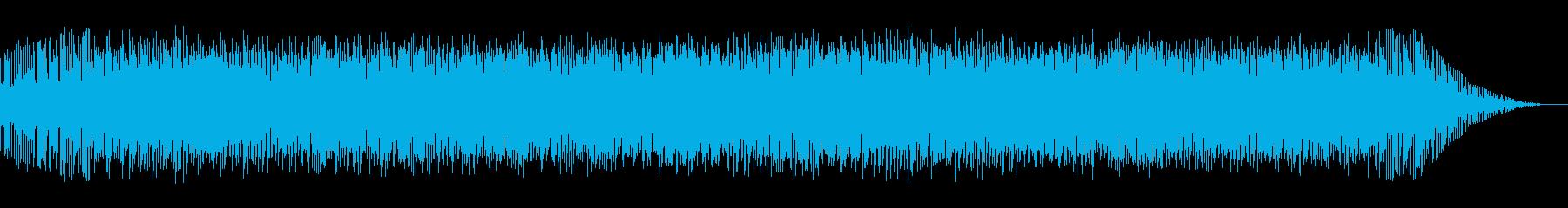 バルカン半島の熱狂的ジャズの様なBGMの再生済みの波形