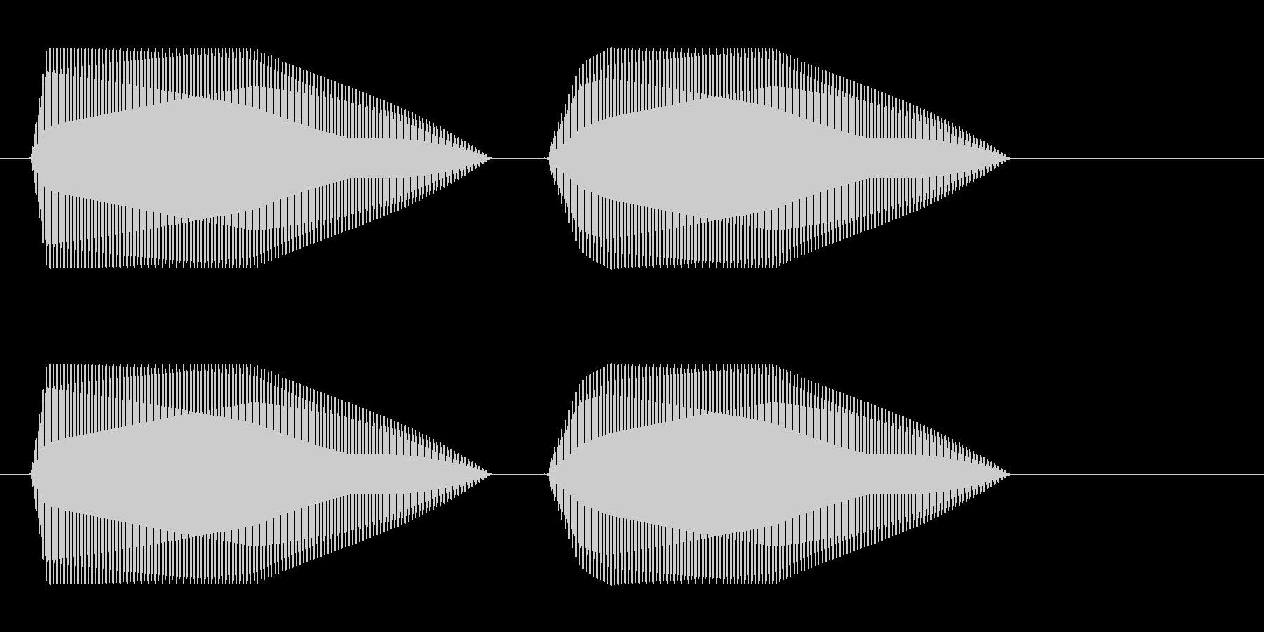 ポポッ(シンプルな音)の未再生の波形
