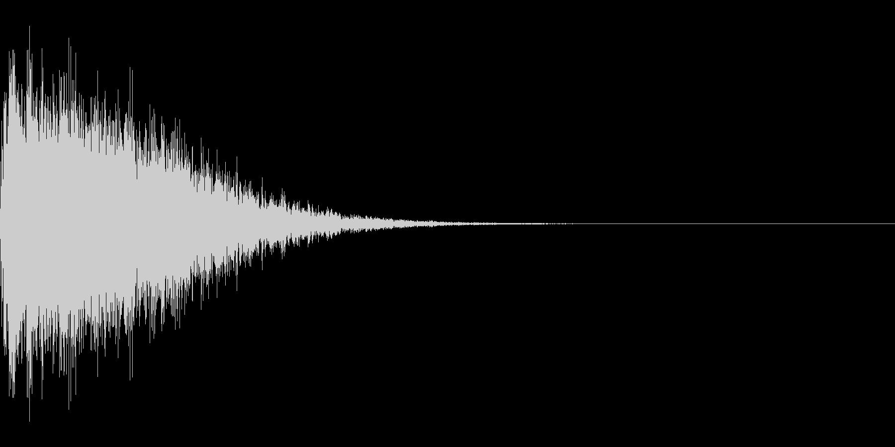 カットイン音、衝撃音の未再生の波形