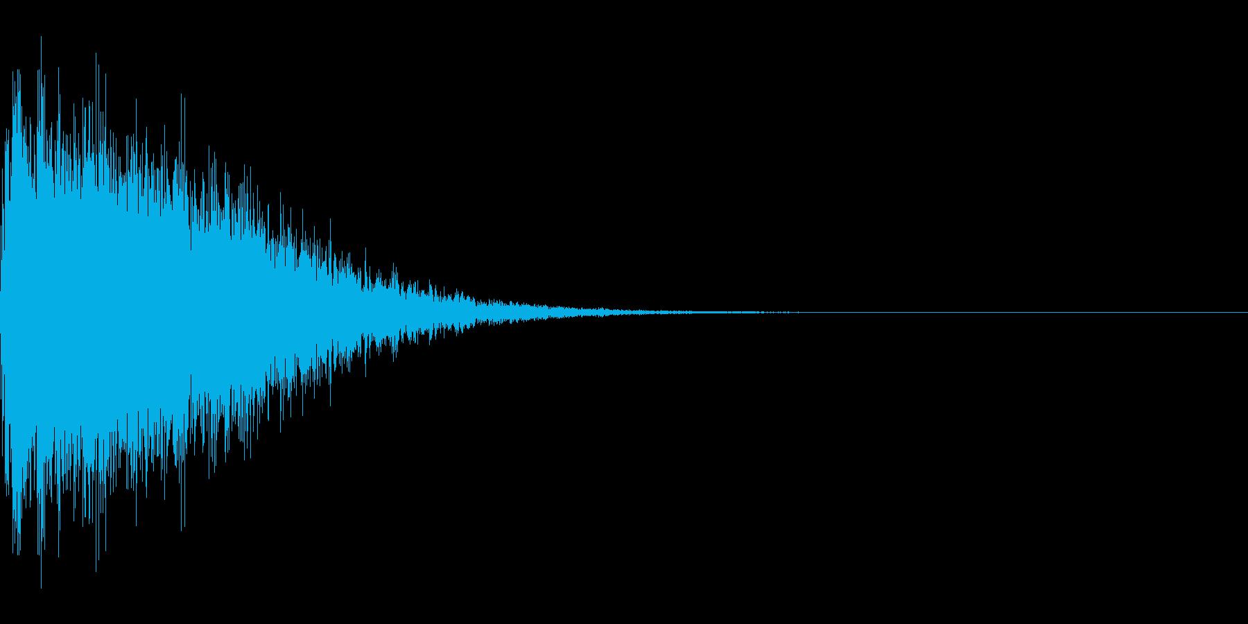 カットイン音、衝撃音の再生済みの波形