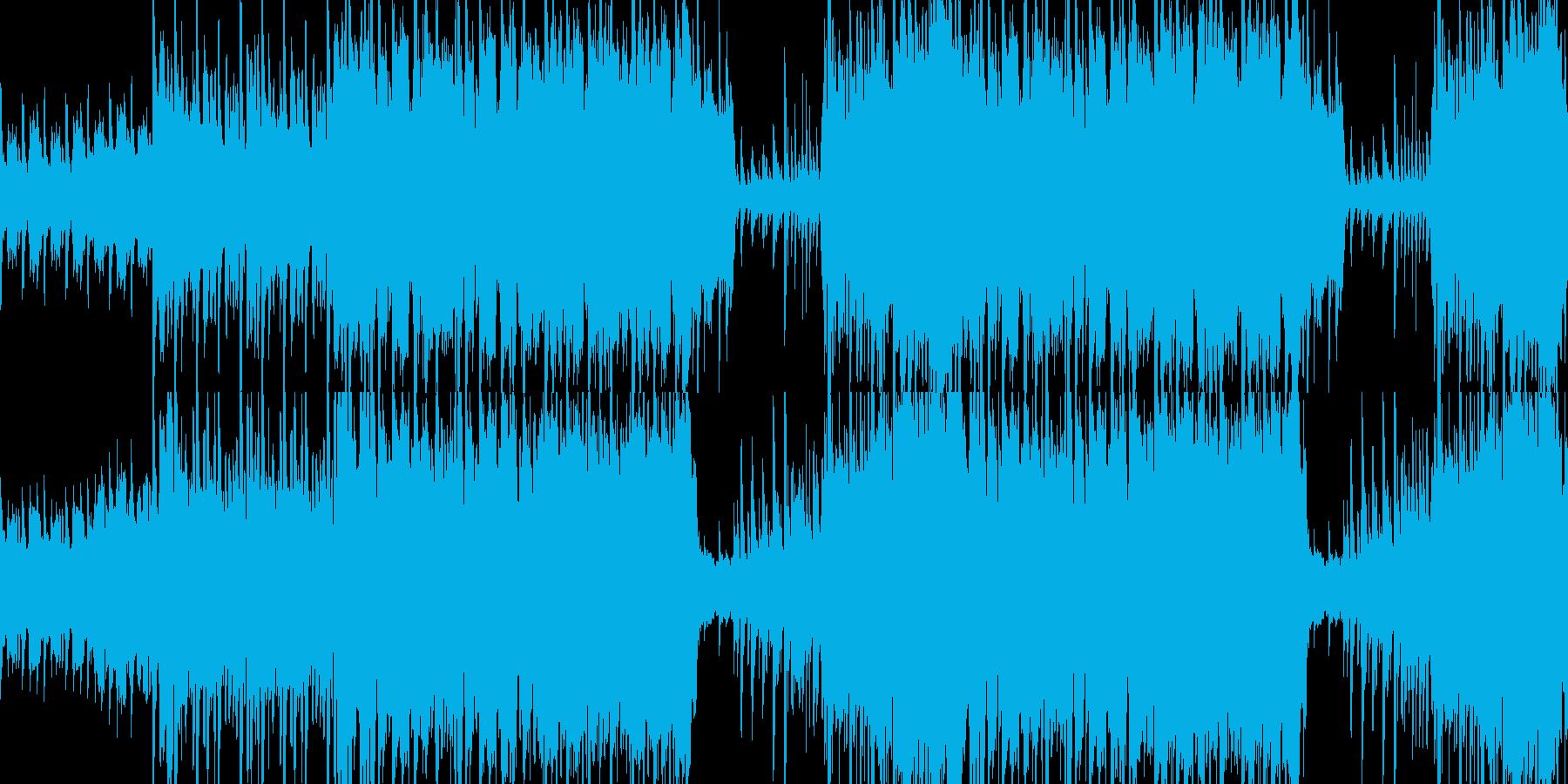 ループ:明るく賑やかで可愛いケルト風の曲の再生済みの波形