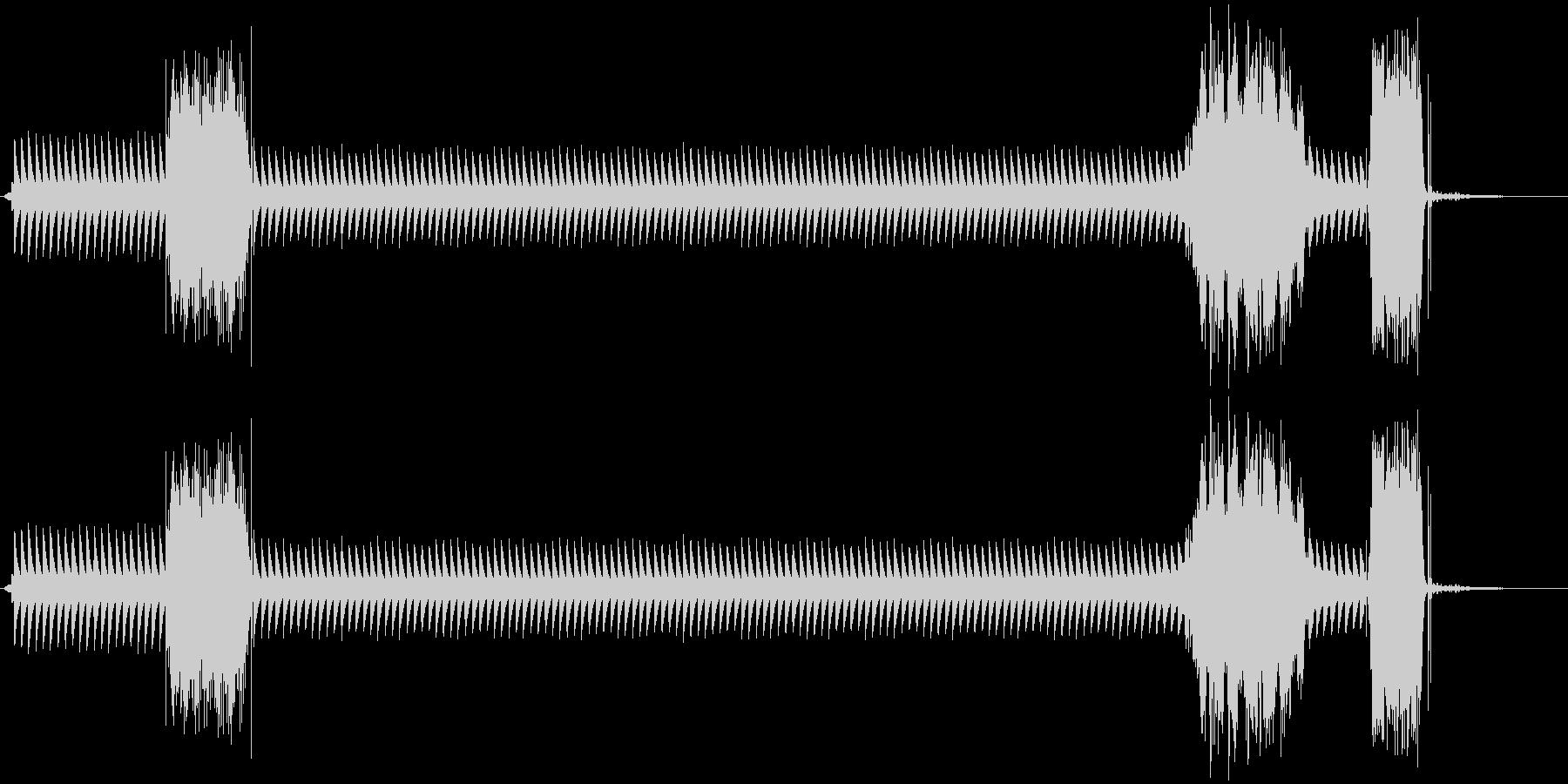 カンカンカンカン(踏切警報機)の未再生の波形