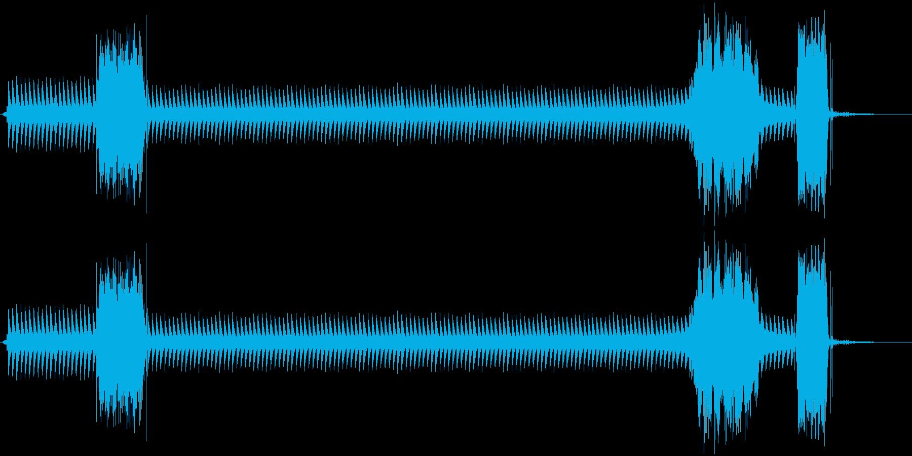 カンカンカンカン(踏切警報機)の再生済みの波形