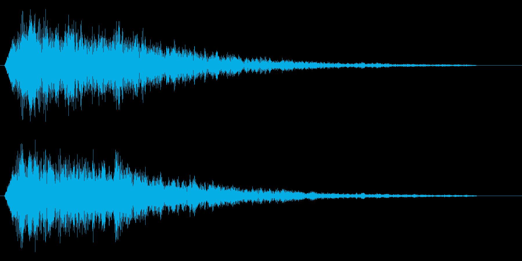 ビュイーン(銃から出る光線のような音)の再生済みの波形