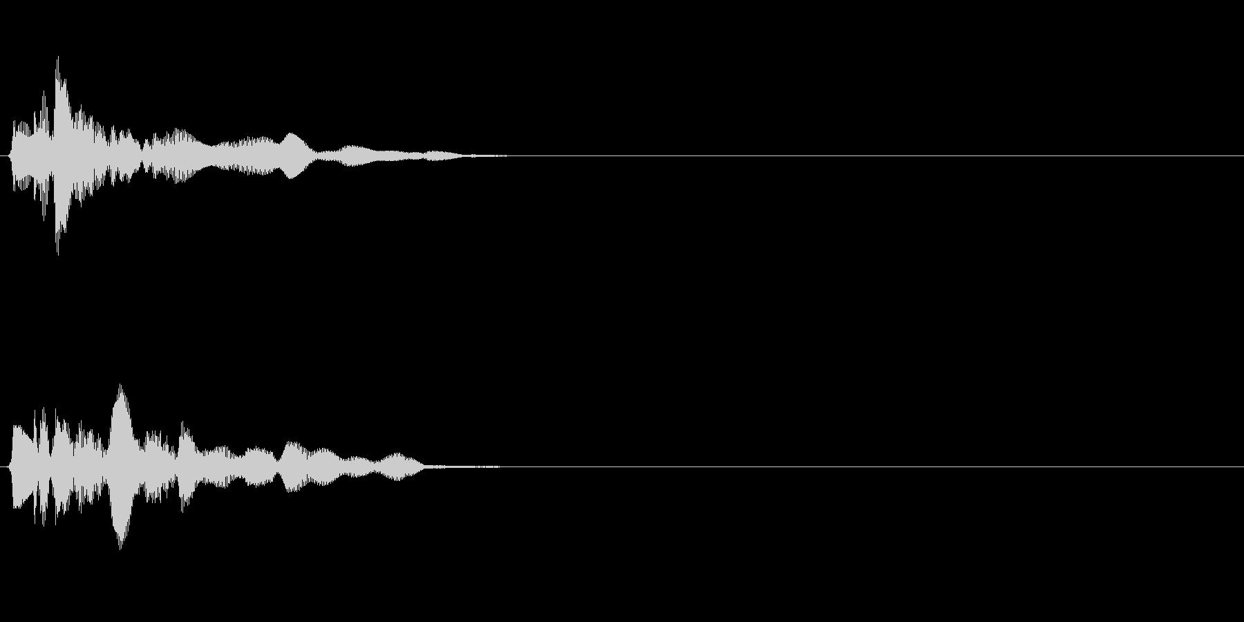 シャララーン (ゲット・アプリ決定音)の未再生の波形