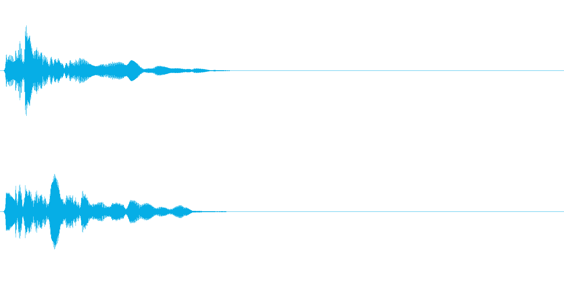 シャララーン (ゲット・アプリ決定音)の再生済みの波形