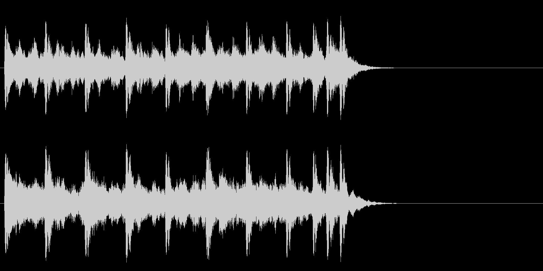 懐古的で温かいセミクラ(サビ)の未再生の波形