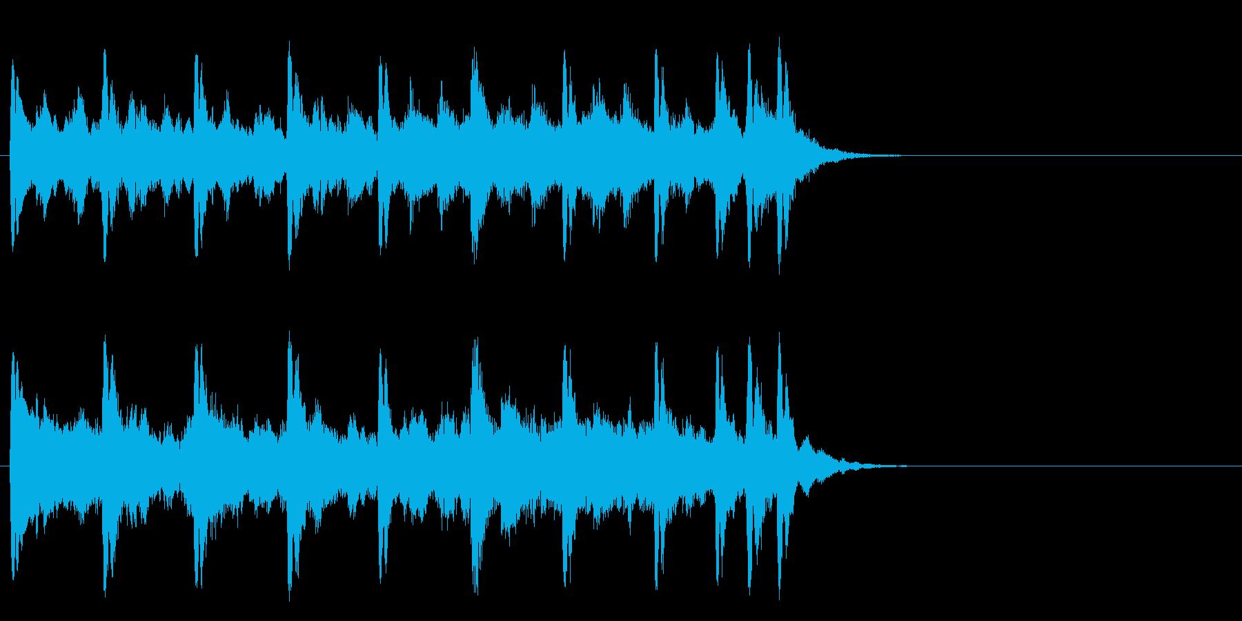 懐古的で温かいセミクラ(サビ)の再生済みの波形