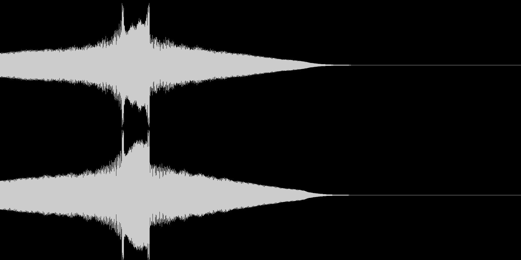 ピークァコーンの未再生の波形