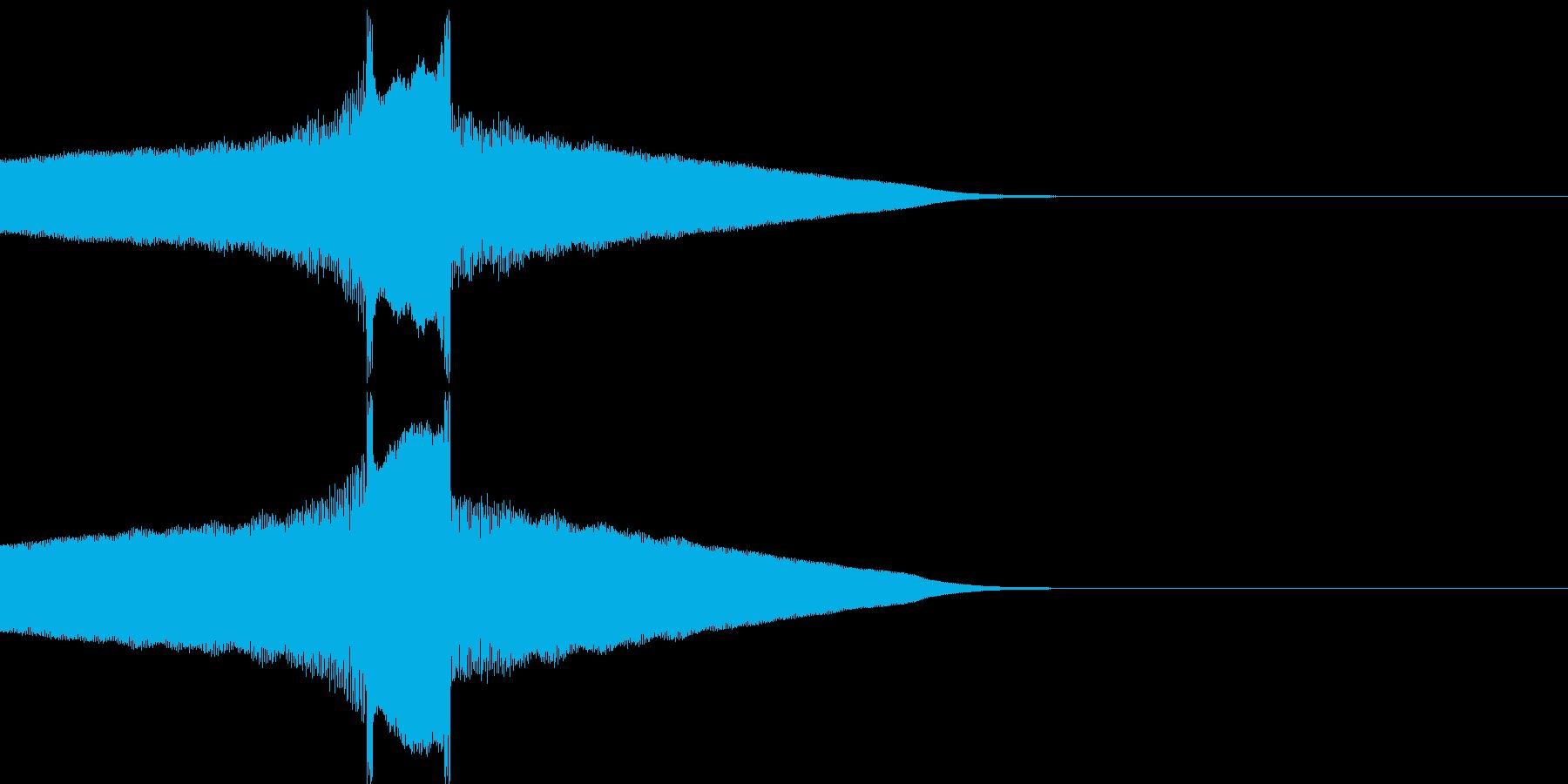ピークァコーンの再生済みの波形