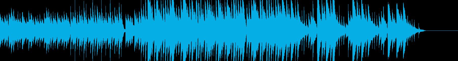 優しい雰囲気の曲の再生済みの波形