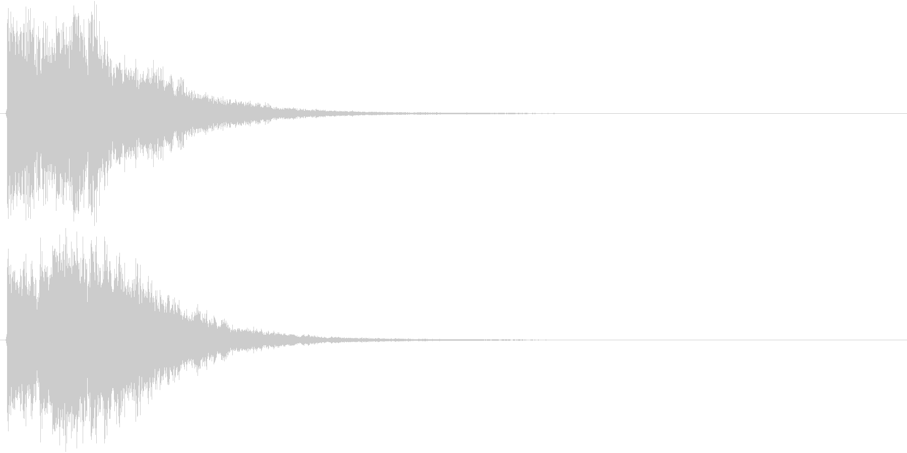 アイキャッチ(硬質・派手)2の未再生の波形