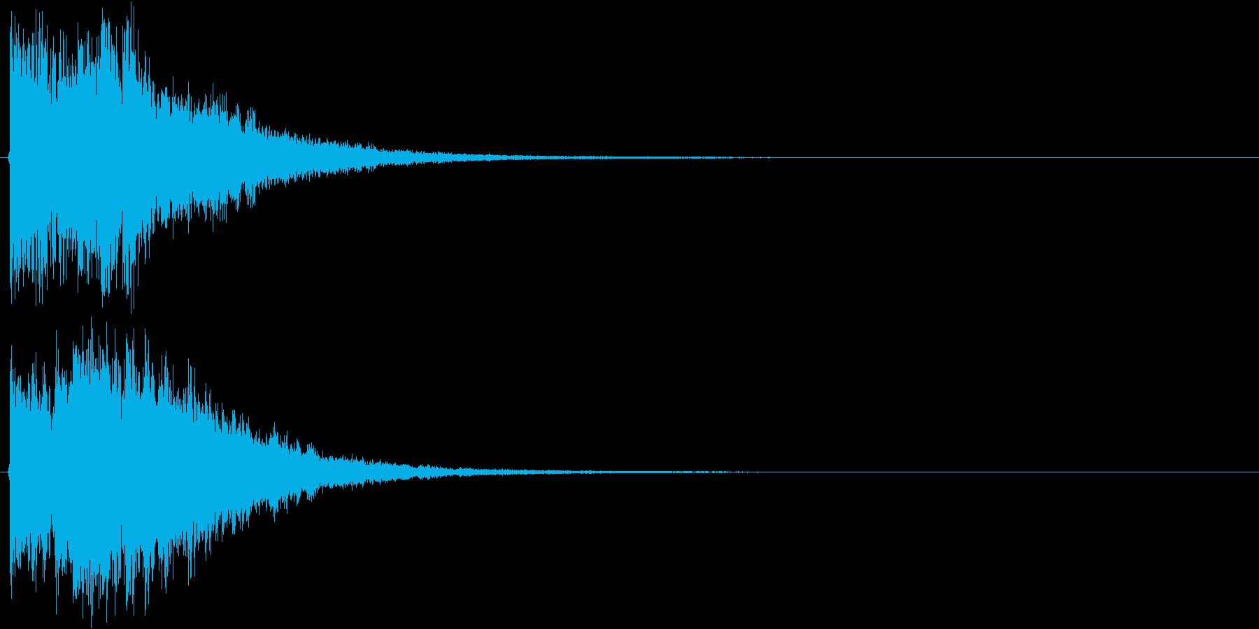 アイキャッチ(硬質・派手)2の再生済みの波形
