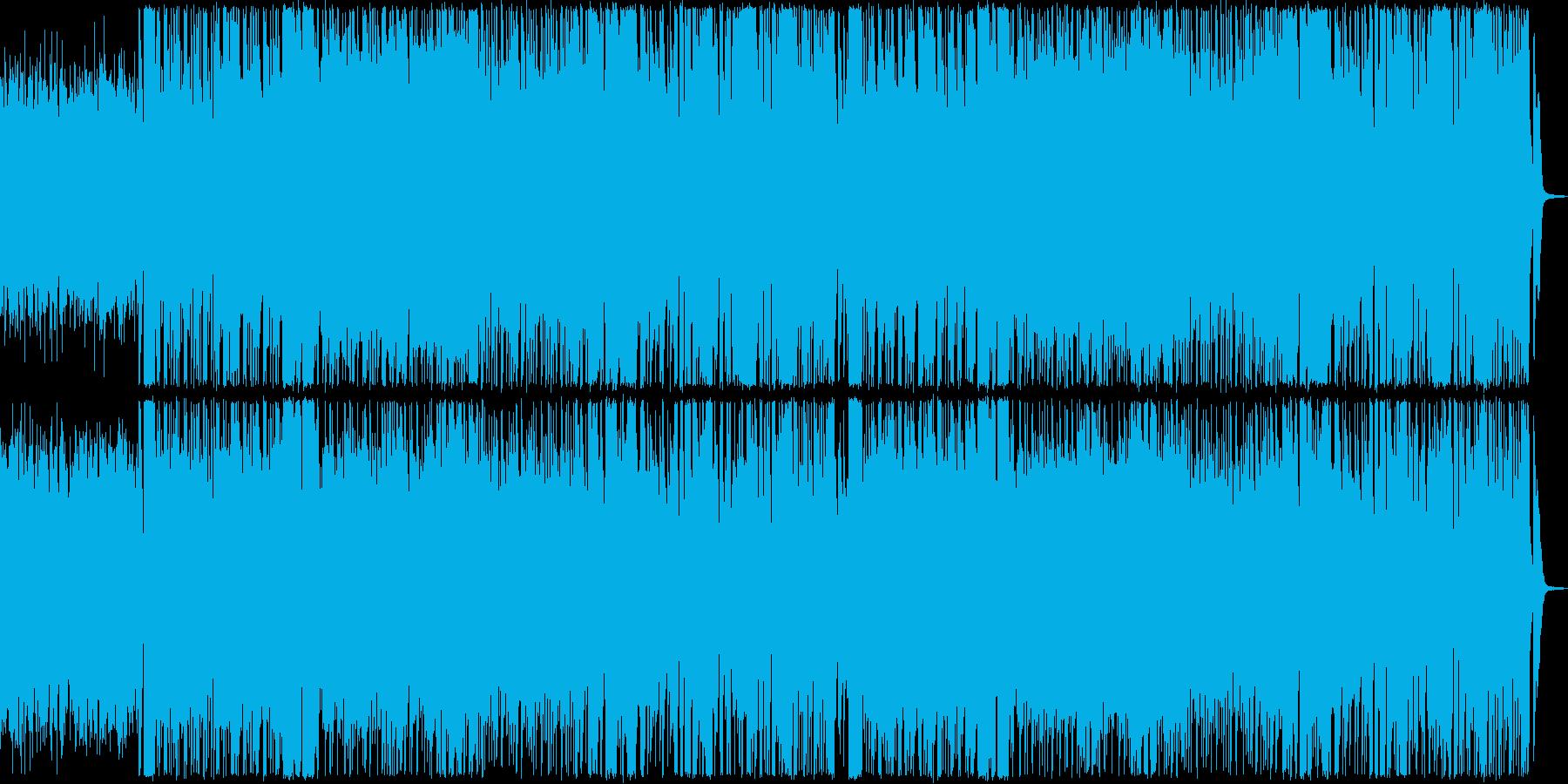 戦隊物イメージしたコミカルな曲の再生済みの波形