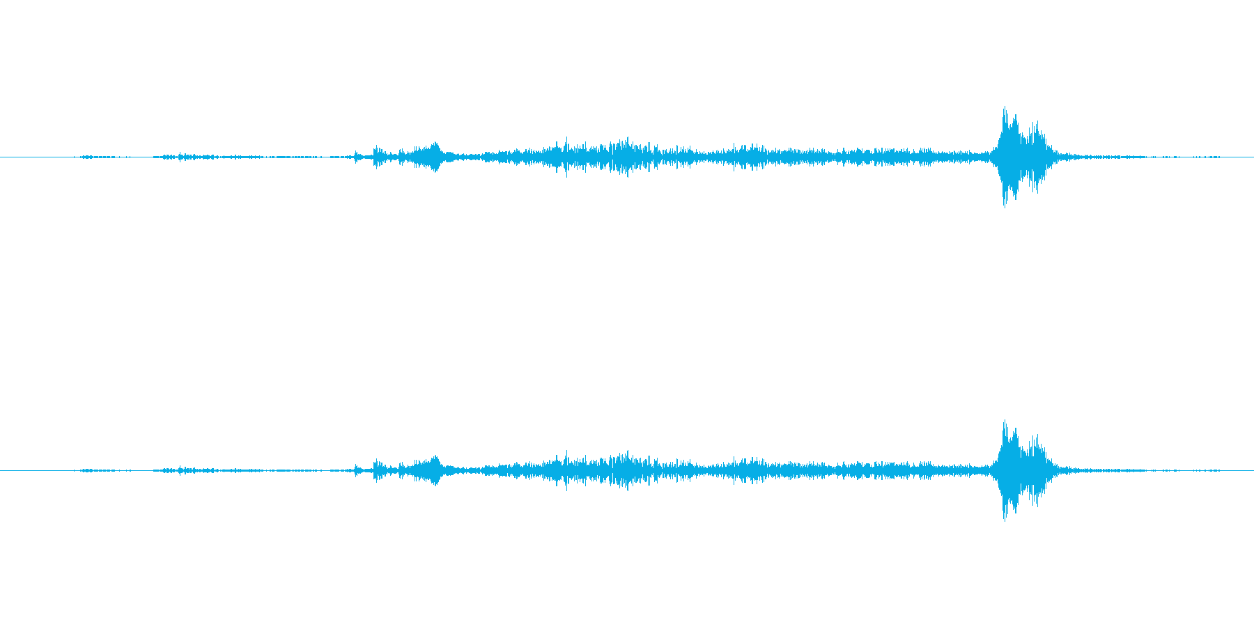 【生音】(ササーサ)というタンス開ける音の再生済みの波形