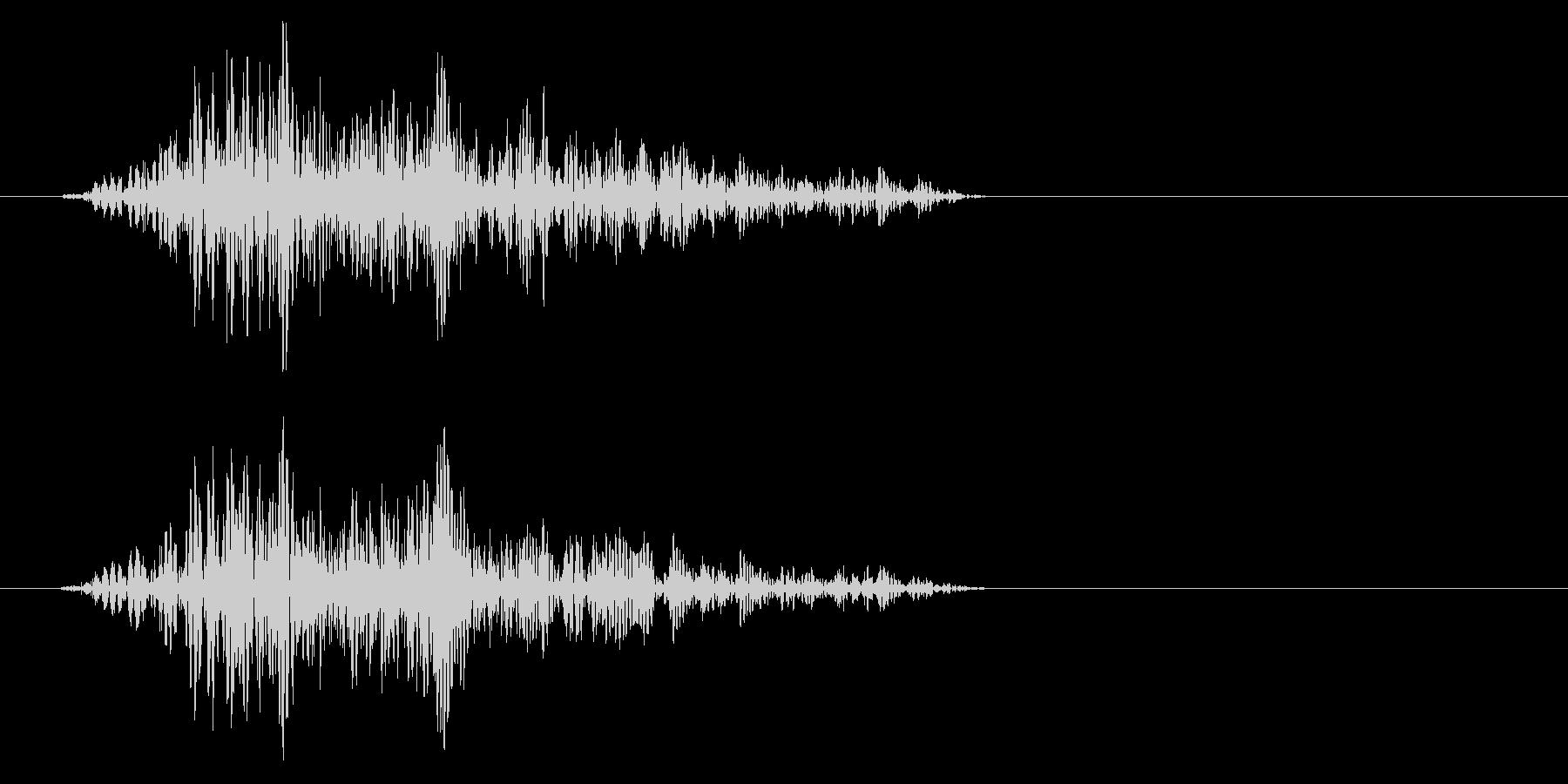 ヒュッ(空を切るような風切り音)の未再生の波形
