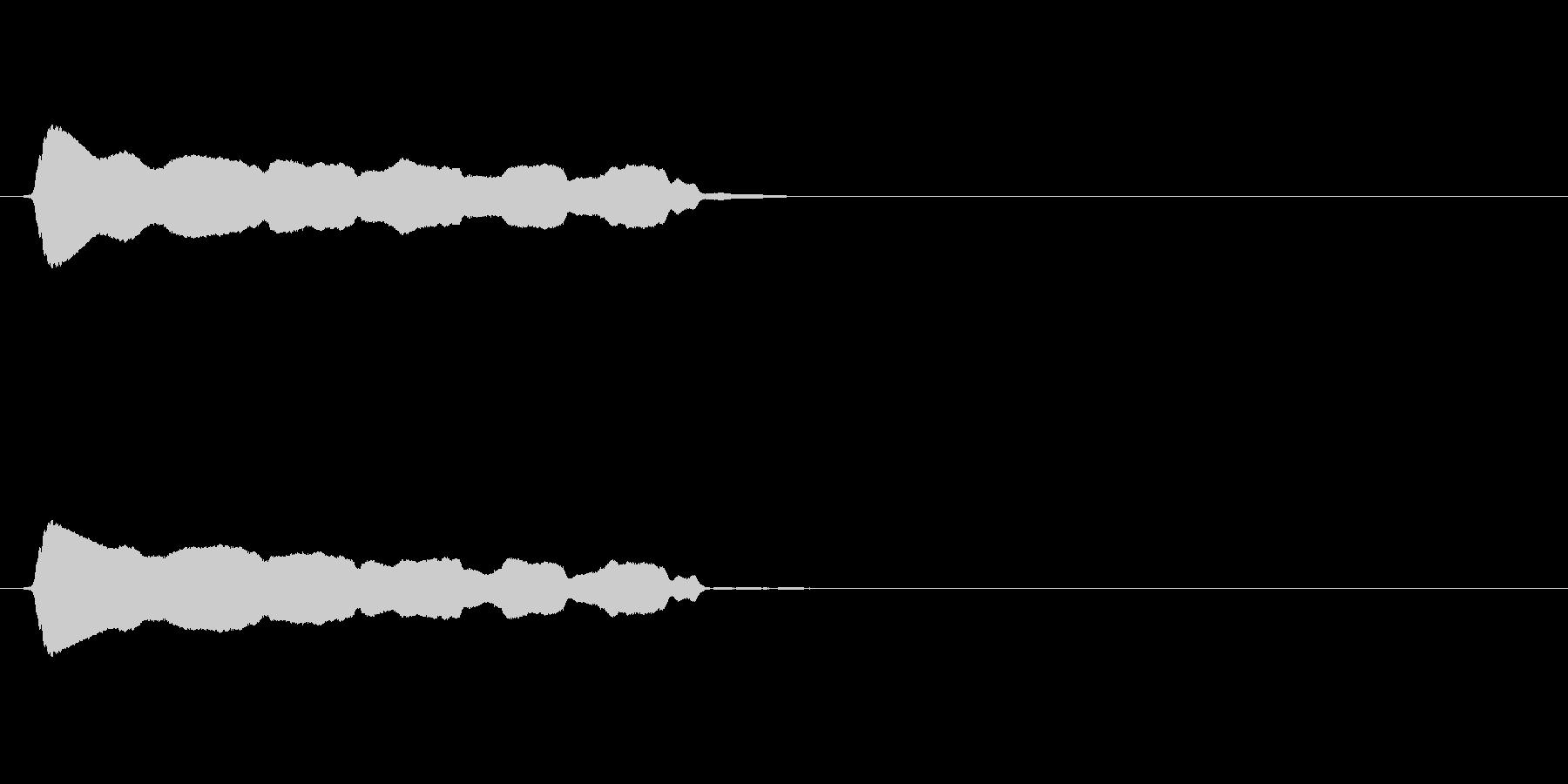 長い「ピーーー」というホイッスル(笛)音の未再生の波形