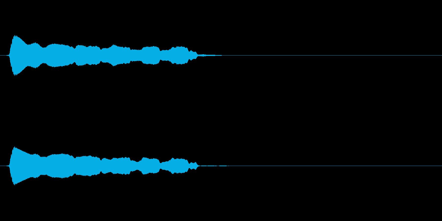 長い「ピーーー」というホイッスル(笛)音の再生済みの波形