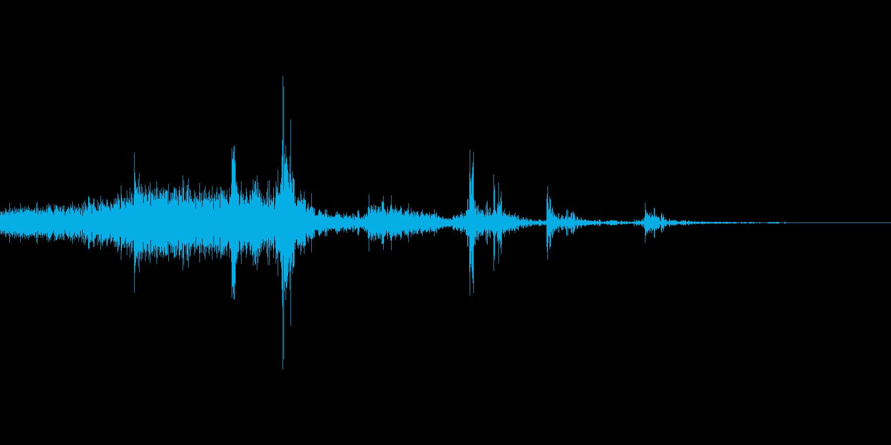 ページをめくる音の再生済みの波形