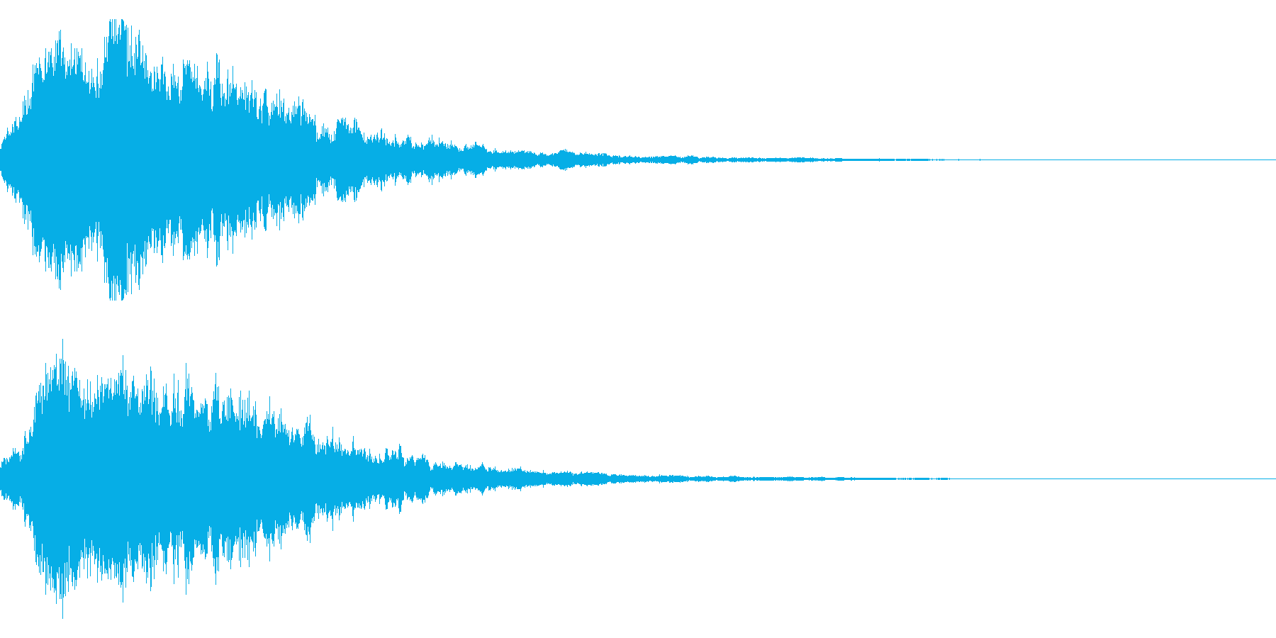 キラキラ輝く テロップ音 ボタン音!04の再生済みの波形