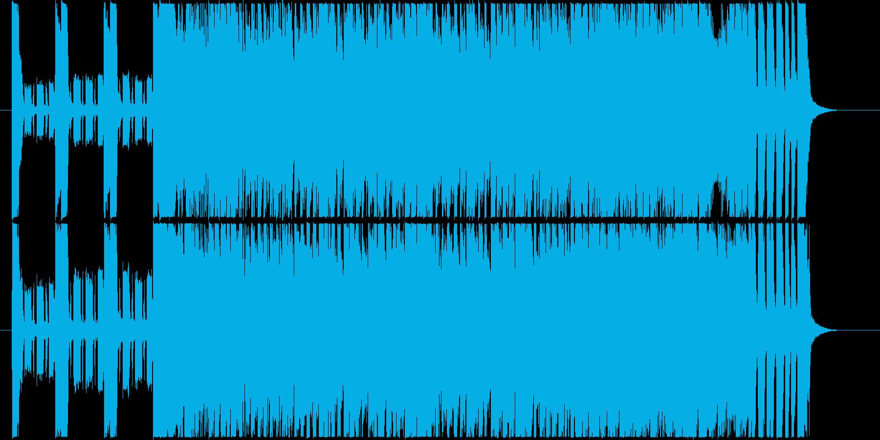 楽しそうなシャッフルのはねたポップスの再生済みの波形