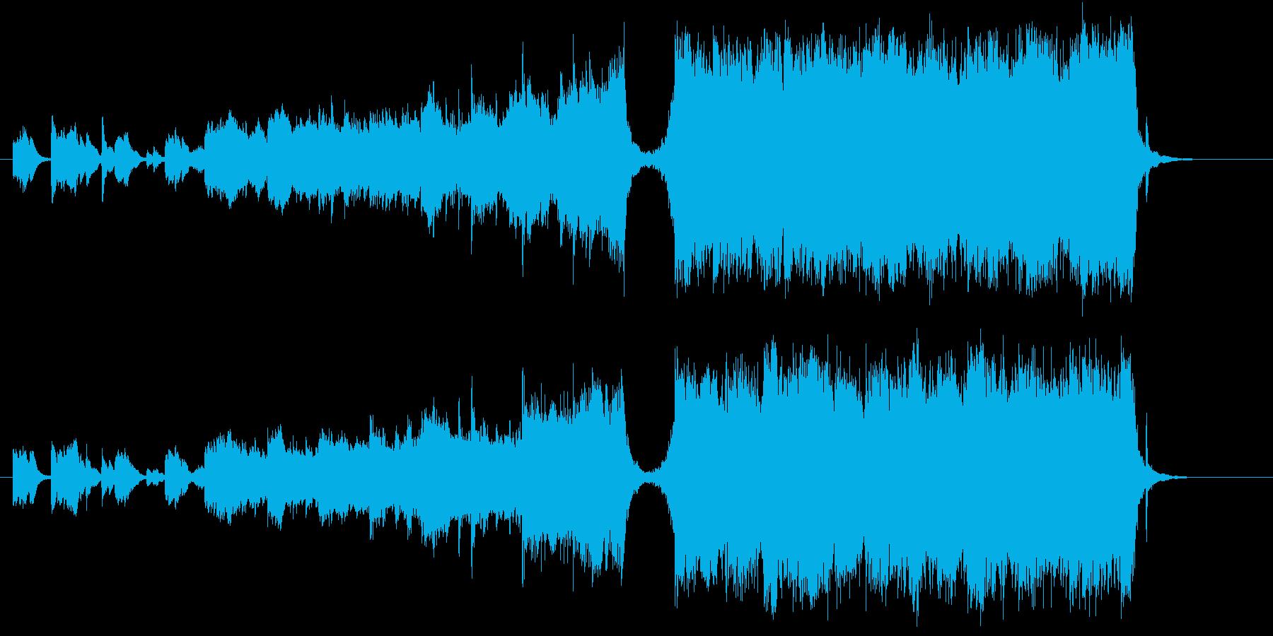 壮大で感動的なオーケストラサウンドの再生済みの波形