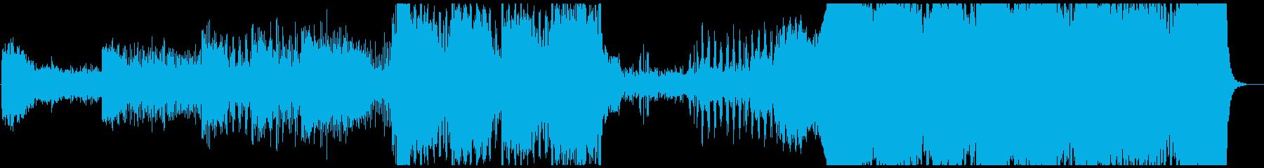 巨大なものが現れるシーンのBGMの再生済みの波形