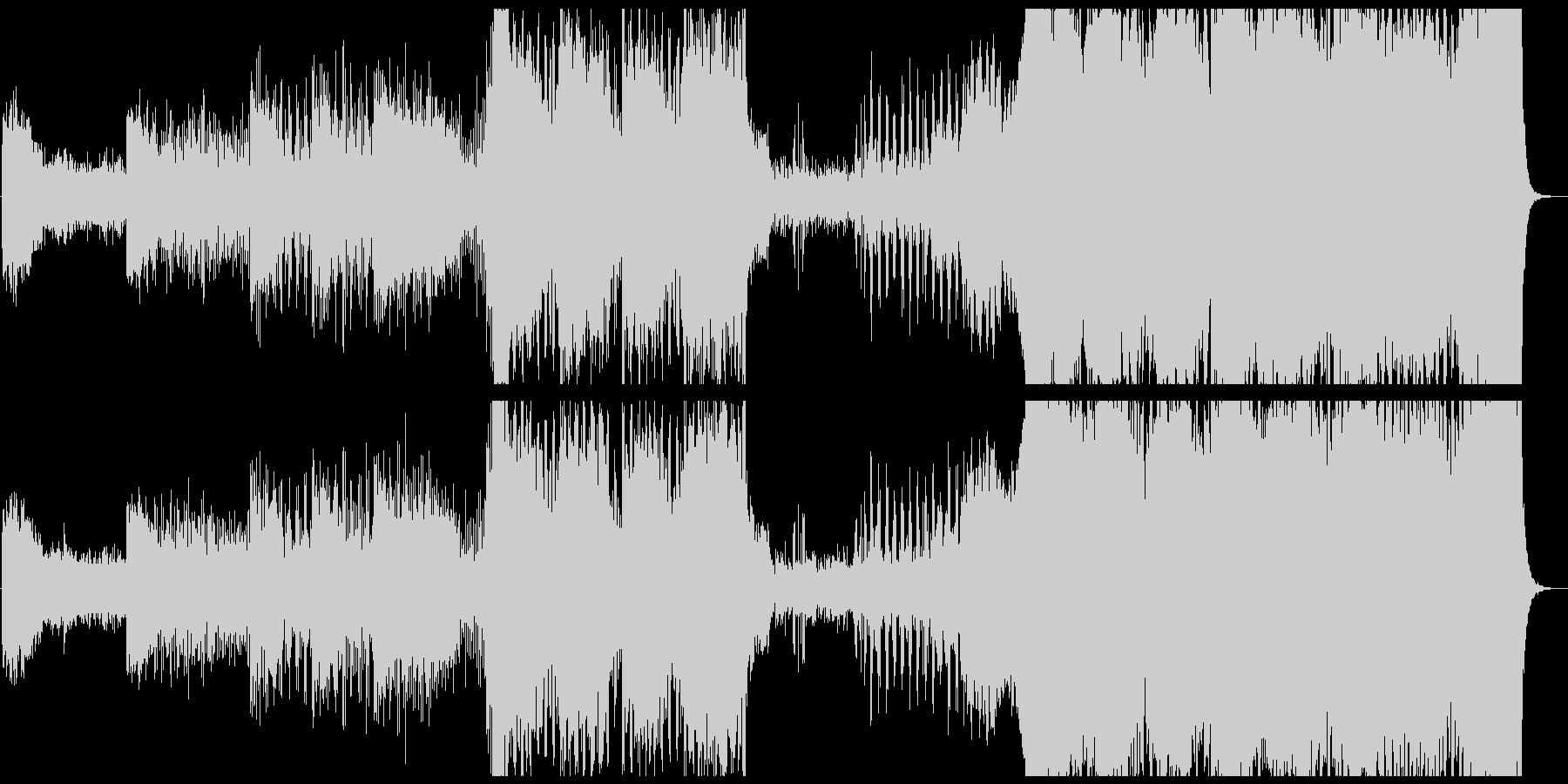 巨大なものが現れるシーンのBGMの未再生の波形
