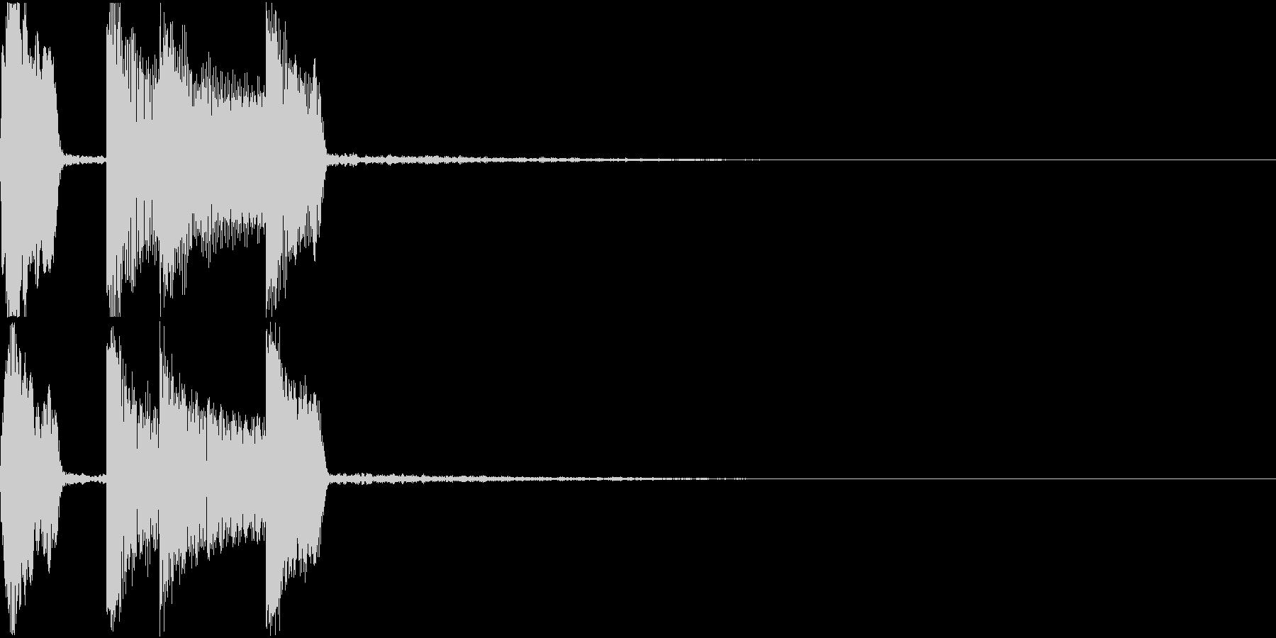 通知音 着信 お知らせ クリック 決定音の未再生の波形
