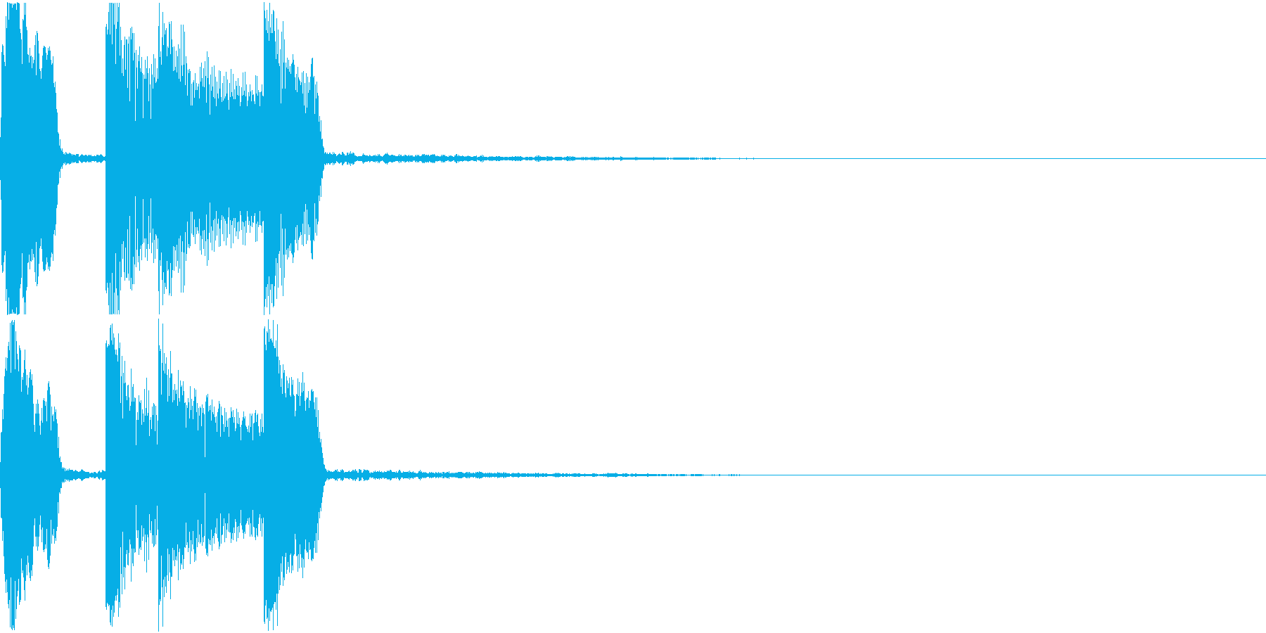 通知音 着信 お知らせ クリック 決定音の再生済みの波形