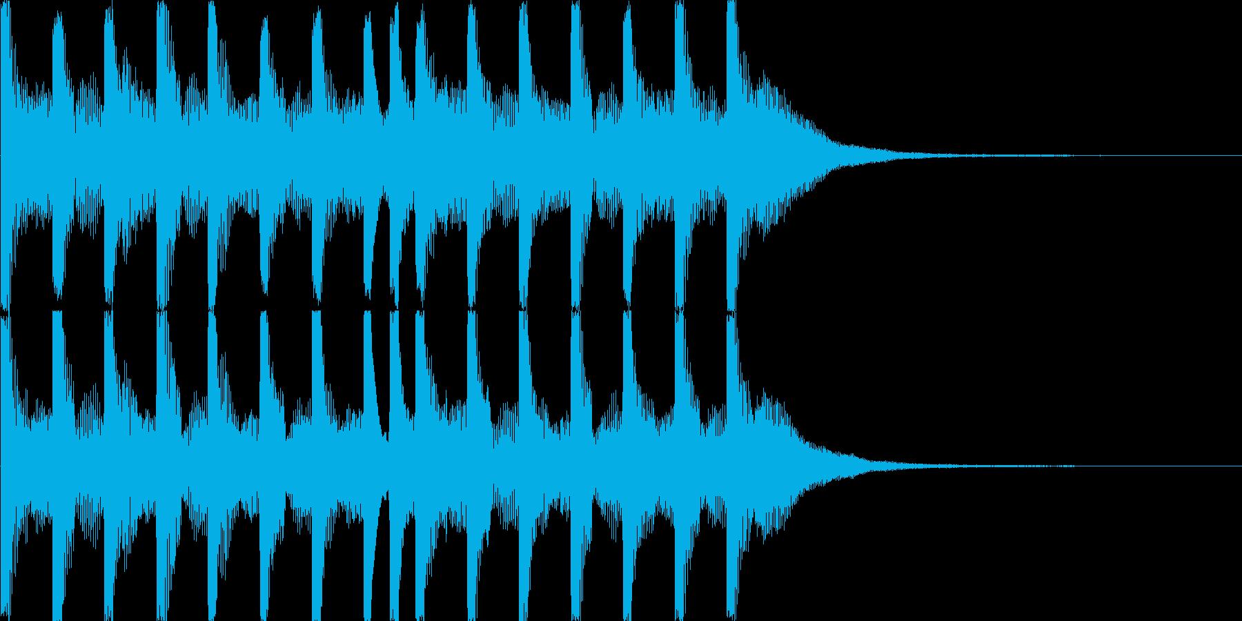 特徴的でキュートな音、ゲームのクリア音等の再生済みの波形