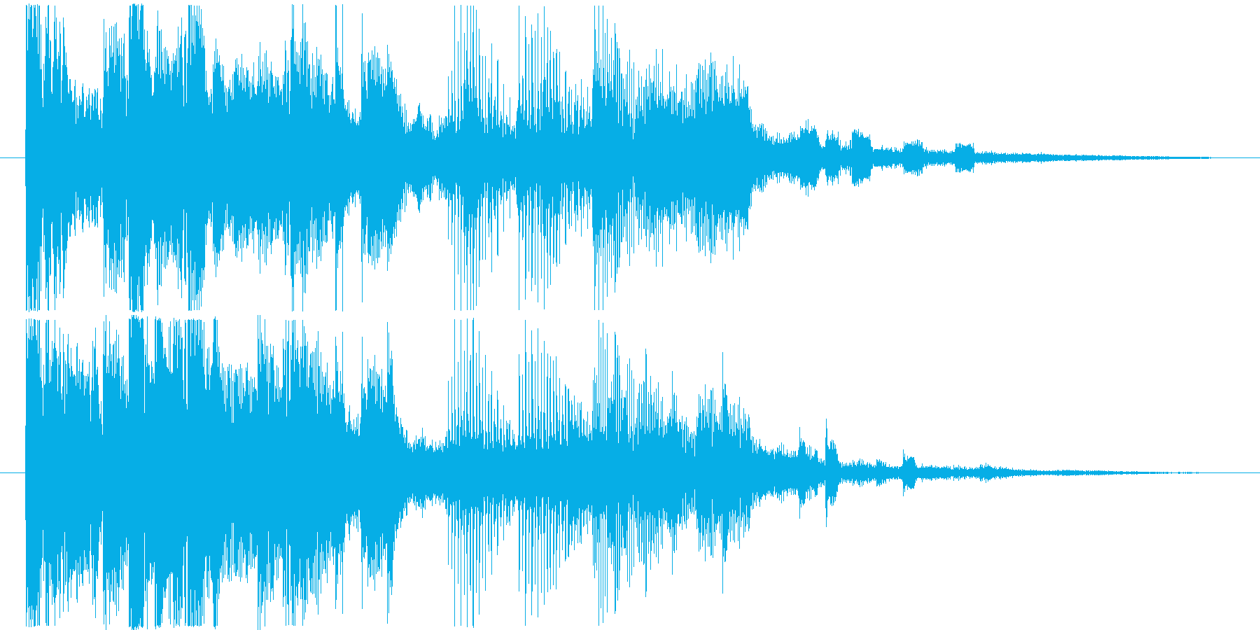 今風でファッショナブルなサウンドロゴの再生済みの波形