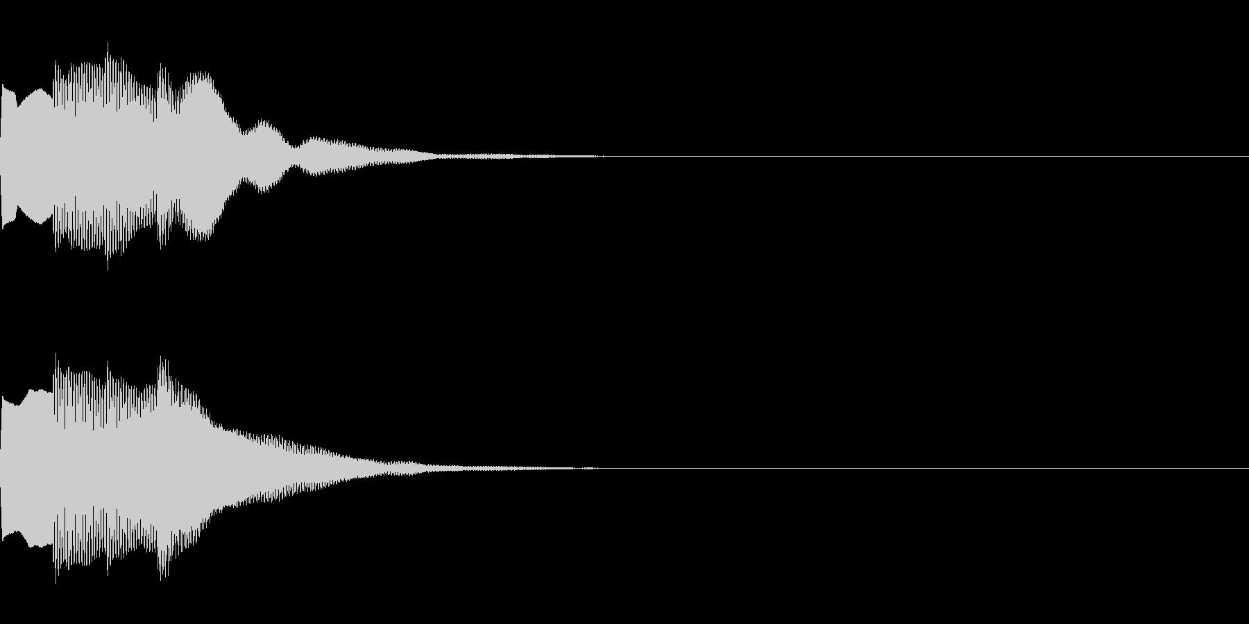 決定音73_シンセAIの未再生の波形